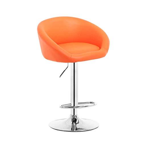 LINGZHIGAN Fauteuil de bar Chaise minimaliste moderne Chaise de bar Dossier Chaise pivotante Tabouret de bar Chaise haute (Couleur : D)