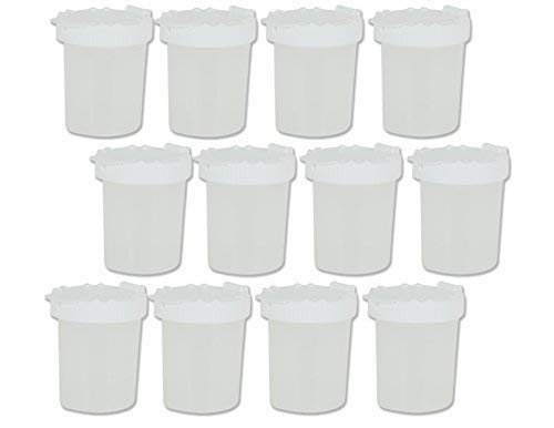 Sargent Art 22-1697 Non-Spill Paint Cups, White, 12 count