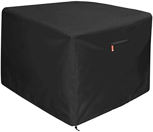 Futureyun Large Fire Pit Cover, Premium Patio Outdoor Cover Heavy Duty Fabric with Waterproof, Windproof, Anti-UV,Fits for 30 inch - Black