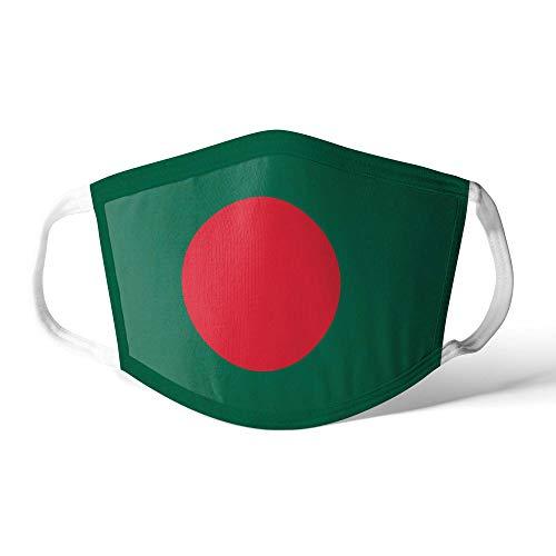 M&schutz Maske Stoffmaske Mittel Asien Flagge Bangladesch Wiederverwendbar Waschbar Weiches Baumwollgefühl Polyester Fabrik