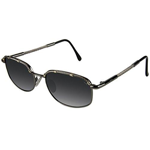 Xezo Airman de hombre o mujer - Gafas de sol tipo piloto de titanio y cable de acero polarizadas UV 400. Estilo vintage