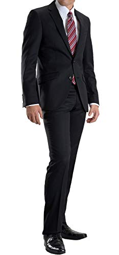 【MARUTOMI】リクルートスーツメンズ2ツボタンビジネススーツ就活スリムスーツフレッシャーズ冠婚葬祭礼服フォーマルスーツオールシーズン対応洗えるパンツウォッシャブルプリーツ加工春夏【】1:ブラック70A-6-A6