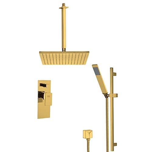 Best Deals! Nameeks SFR7506 Remer Shower System with Multi Function Rain Shower Head, Hand S, Gold