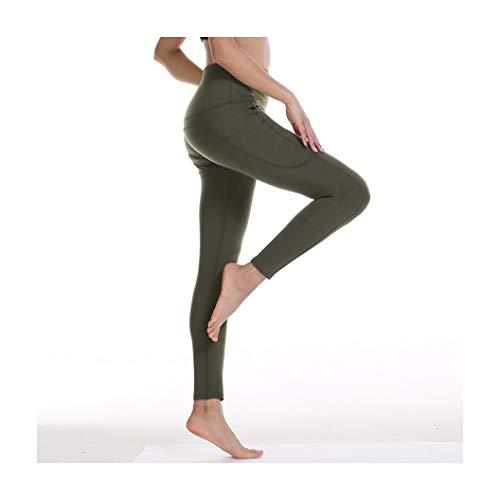 KKMAOAO Damen Yoga-Hose, modische Hose, für Training, Tanz, Hüfte, hohe Taille, Leggings, Stretch, dünn, Fitness-Hose, Damen, Grün, Sporthose, Sommer, Outdoor, Reisen, Wild M farbe