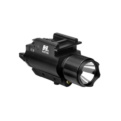 NC Star AQPFLSG NcStar, Green Laser Sight, Tactical W/3W 150 lm Light,Black