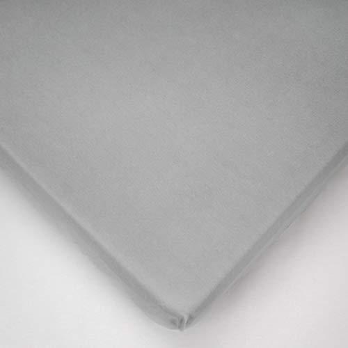 La sábana Ajustable 100% algodón para bebés se Adapta a la Cama de 160 x 70 (Gris)