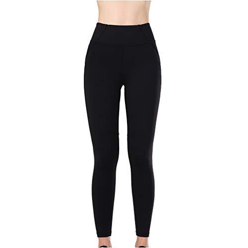 Setsail Damen Trend hohe Taillen-Yoga-Hosen-Bauch-Sporthosen-Training, das Yoga-Gamaschen Laufen lässt Gerade geschnittene Hose