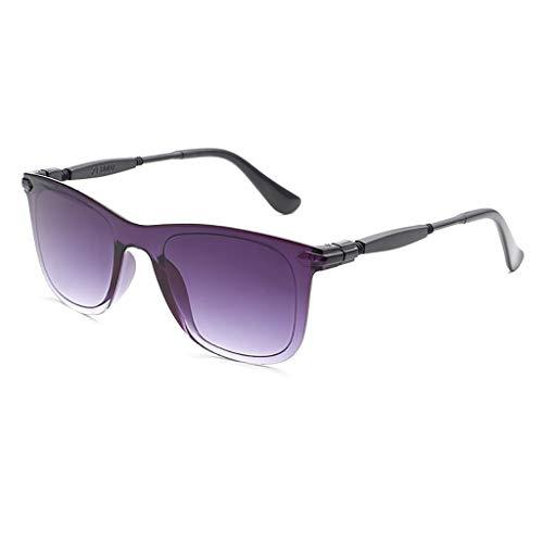 Xniral Neue Mode Unisex Sonnenbrillen Männer und Frauen dekorative Brille Rahmen Vollbild-Farbverlaufslinse(A)