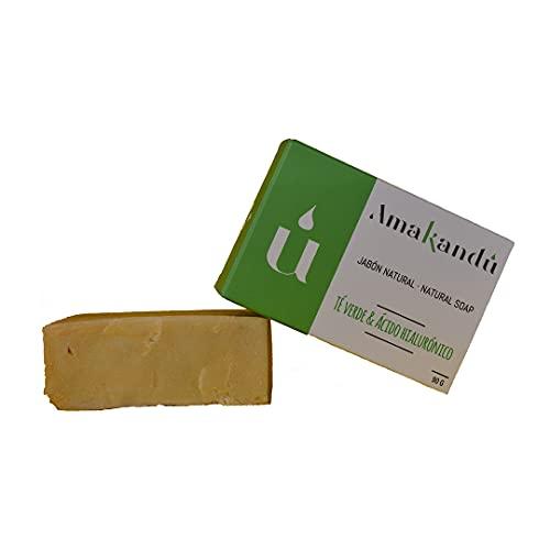 Jabón Bio_Natural_Vegano_Árbol de té+Ácido hialuronico_antiacne_limpiador_combate la grasa, manchas y los granos, tattoo cleaner_cara y cuerpo 90 Gr