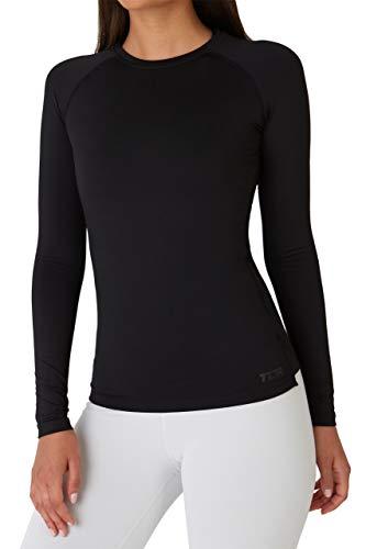 TCA SuperThermal Termoaktywna Koszulka Damska z Długim Rękawem do wszelkiej aktywności sportowej - Black Rock (Czarny), S