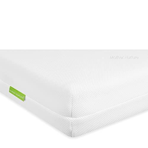 MOTHER NURTURE Signature Dual Pocket Spring Cot Bed Mattress, White, 140 x 70 x10cm