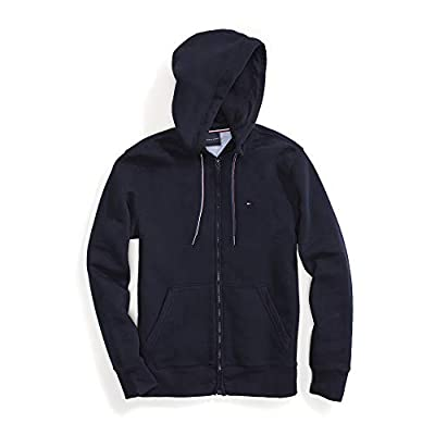 Tommy Hilfiger Men's Adaptive Plain Hoodie Sweatshirt with Magnetic Zipper, Navy blazer, Medium from Tommy Hilfiger