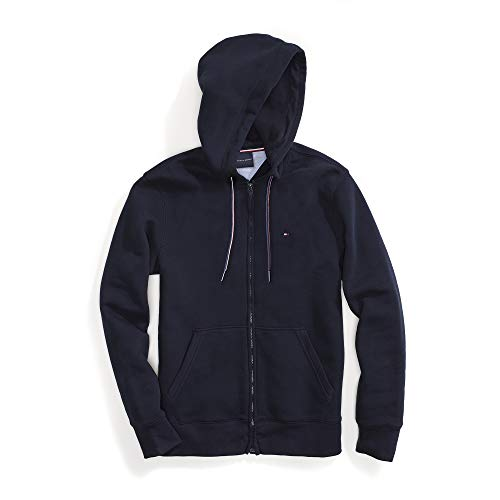 Tommy Hilfiger Herren Hoodie with Magnetic Zipper Sweatshirt, Tommy Navy, X-Large