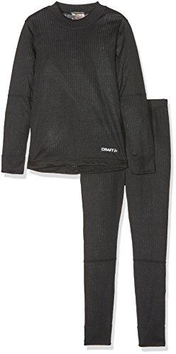 Craft CR1905355 Pantalon et Maillot de Course Garçon, Noir, FR : XL (Taille Fabricant : 158-164)