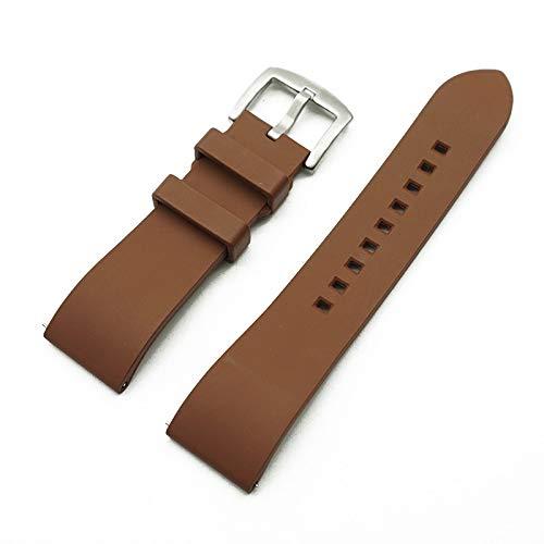 DXFFOK Correa de Reloj de Caucho de flúor de Grado Premium 20 mm 22 mm 24 mm Pulsera Reloje de liberación rápida Banda de Reloj para Cada Banda de Relojes de Marca