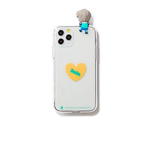 BTS Merchandise for Girls] BTS Character Figure Jelly Samsung Galaxy, iPhone Case Heart (12 oder 12 Pro, Jimin)