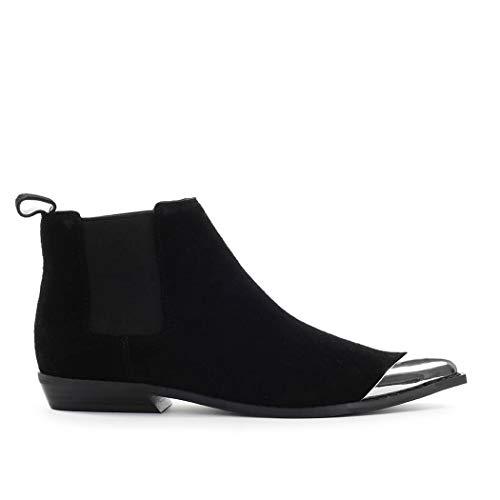 Zapatos de Mujer Botín Chelsea Arthena Ante Negro Calvin Klein SS2020