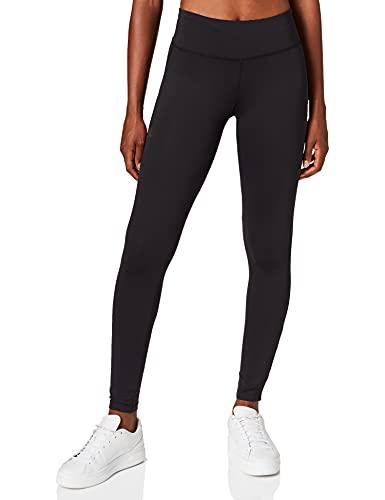 Salomon Mallas para running, agile long tight, tejido de punto, negro, mujer, talla: XS