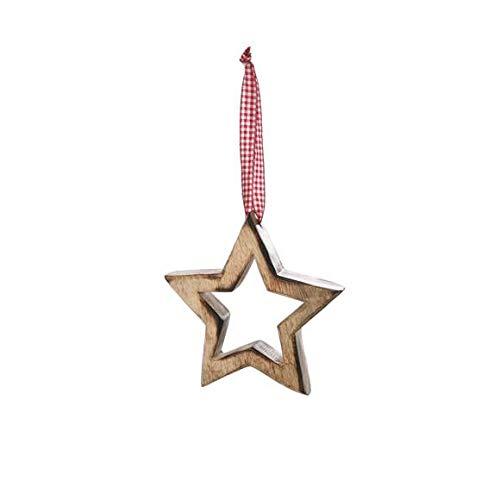 Sterhanger met ruiten - kerstdecoratie, kerstdecoratie, raamdecoratie, kerstmis kerstster, decoratieartikel cadeau-idee