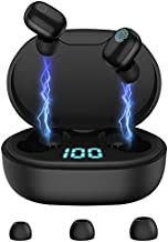 Wireless Earbuds Bluetooth in-Ear Headphones: HiFi Stereo Sound with USB C Charging Case, Touch Control, Earphones with Microphone for Sports Gaming Workout Sleeping Working, Black