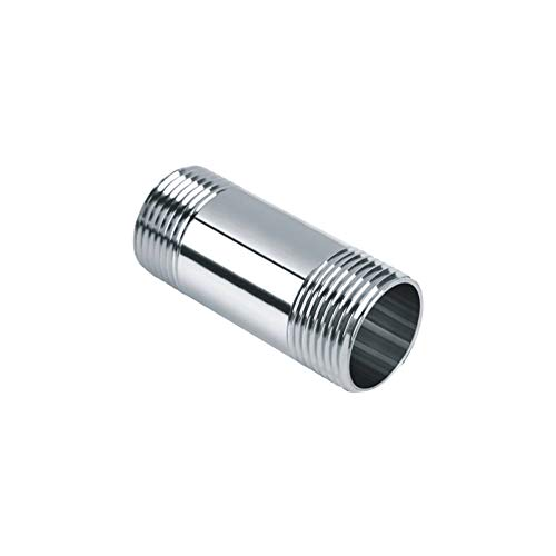 Beduan Stainless Steel Pipe Fittings, 1/2 NPT x 1/2 NPT Male Threaded, 2 Length Nipple Cast Pipe