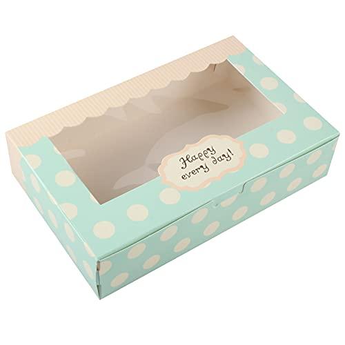 Lvcky - Set di confezioni regalo in carta per 12 pirottini, imballaggi per dolcetti, biscotti e pasticcini, lunghezza 20,3 cm