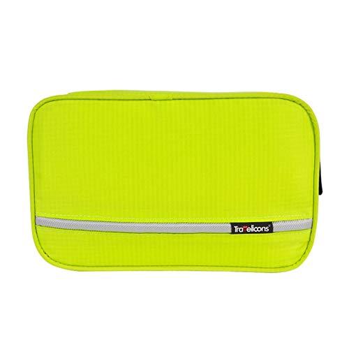 JWGD Borsa da Toilette sospesa da Viaggio Kit di Lavaggio per Toilette da Viaggio per Gli Uomini Donne Cosmetici Trucco Robusto Sacchetti Doccia a impennata (Colore : Tender Green)