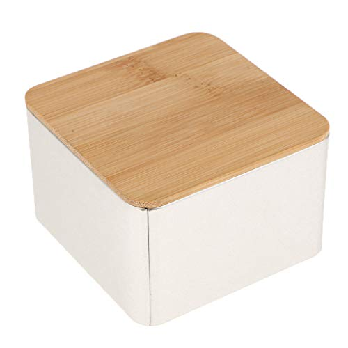 Fenteer Bambus Deckel Vorratsdosen Teedosen Teebox Kaffeedose Zuckerdose Behälter - E