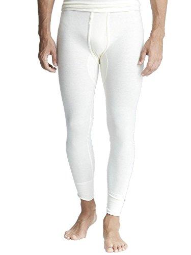 Susa Herren Thermounterwäsche - Angora Unterhose (lang) s8050080, Einfarbig, Gr. Large, weiß (wollweiß s115)