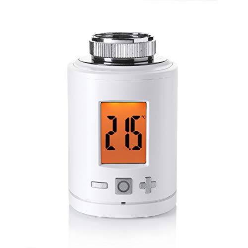 Eurotronic Z-Wave Plus Heizkörperthermostat, bis 30 % Heizkosten sparen, über Z-Wave Funkstandard steuerbar, Heizungsthermostat inkl. Adapter + Batterien, Smarthome-Zubehör