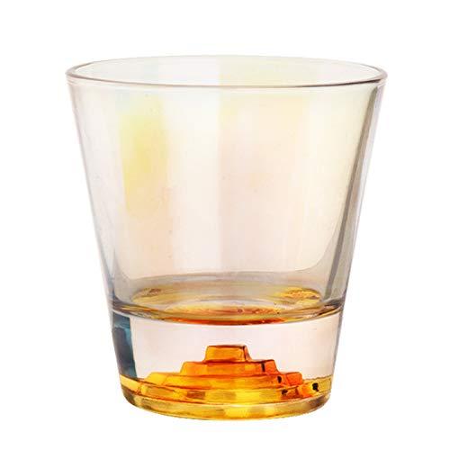 Sektgläser Beiläufig Transparenter Whisky-Glas 275ml Weinglas-Saft-Tasse Glasschale Wasser Cup-Haushalt 6x9.5cm Lostgaming (Color : C)