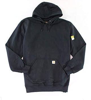 Carhartt Men s Rain Defender Paxton Heavyweight Hooded Sweatshirt Carbon Heather Large