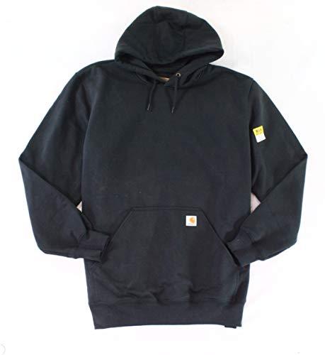 Carhartt Men's Rain Defender Paxton Heavyweight Hooded Sweatshirt, Black, X-Large