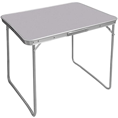 Aluminum Folding Camping Table Lightweight Portable Work Desk Indoor and Outdoor Picnic Dining Barbecue Table with Handle (80CM)