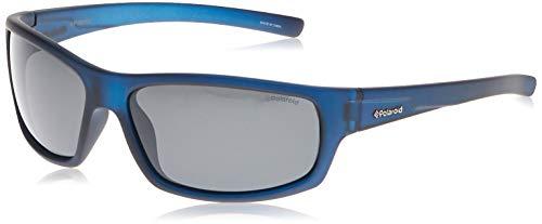 Polaroid P8411S -  Gafas de sol rectangulares  para hombre,  63 mm,  azul