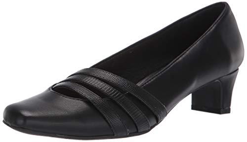 Easy Street Women's Entice Dress Shoe Pump, Black, 8.5 W US