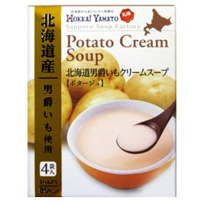 HOKKAIYAMATO 北海道男爵いもクリームスープ ポタージュ(4袋入り)