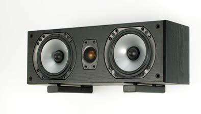 B-Tech BT15 - Juego De Soporte De Pared Con Brazos Ajustables, Para Altavoz Central, Barras De Sonido O Equipos De Audio.