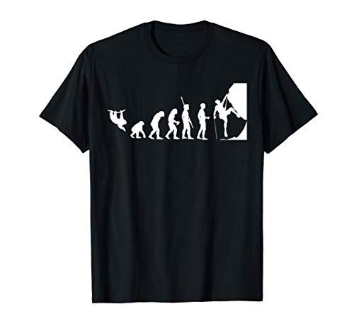 Kletter Evolution Boulder Klettern Geschenk Bergsteiger T-Shirt