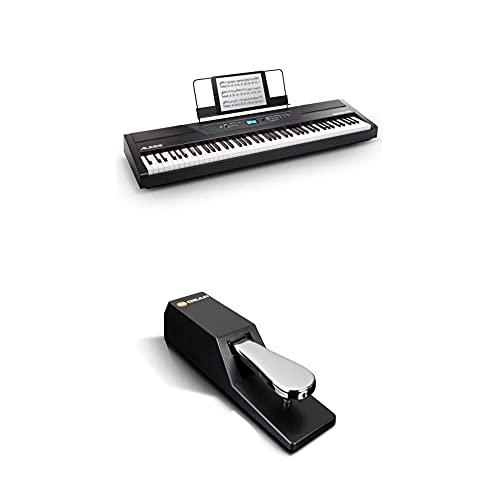 Alesis Recital Pro + M-Audio SP-2 - Piano Digital de 88 Teclas de Acción Martillo, 12 Voces Premium y Altavoces incorporados + Pedal de Sustain universal