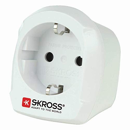 SKROSS Country Adapter Europe to UK: Reiseadapter für Reisen aus Europa in Länder, die den britischen Standard verwenden