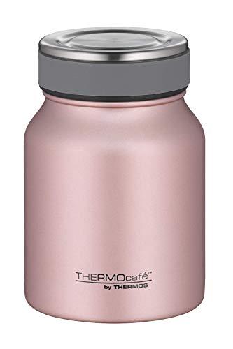 ThermoCafé Thermobehälter für Essen, Lunchpot Edelstahl rosa 500ml, Isolier-Speisegefäß für Suppe oder Müsli, dicht, spülmaschinenfest, 4077.284.050, 9 Stunden heiß, 14 Stunden kalt, Thermogefäß