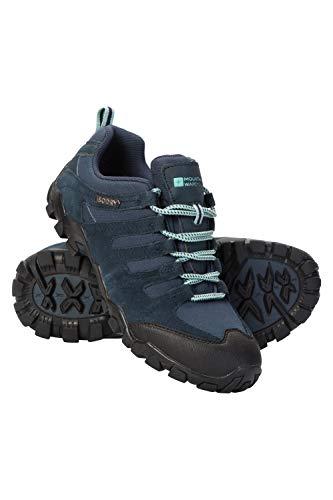 Mountain Warehouse Belfour Wanderschuhe für Damen - leichte Laufschuhe atmungsaktiv, Allwetterschuhe zum Schnüren - Für Trekking, Fitness und Jogging Marineblau 40 EU