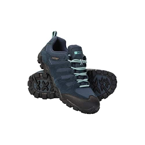 Mountain Warehouse Belfour Scarpe da Passeggio da Donna - Scarpe da Trekking Leggere, Traspiranti, Stringate per Ogni Stagione - da Trekking, Palestra Blu Navy 37