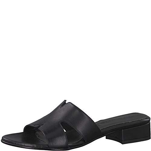 Tamaris 1-1-27123-22 Damen Pantoletten,Pantolette,Hausschuh,Pantoffel,Slipper,Slides,Touch-IT,Black Leather,39 EU