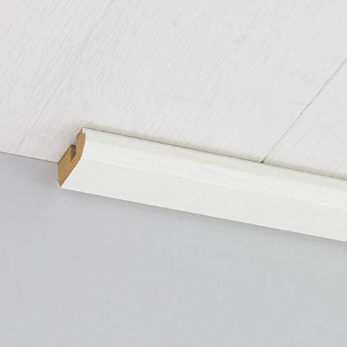 Paneel-Abschlussleiste Abdeckleiste mit Schattenfuge aus MDF in Edelweiß 2600 x 35 x 17 mm