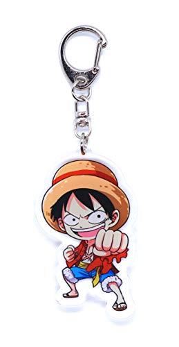Anime Domain Porte-clés de One Piece avec Figurine Chibi (Luffy)