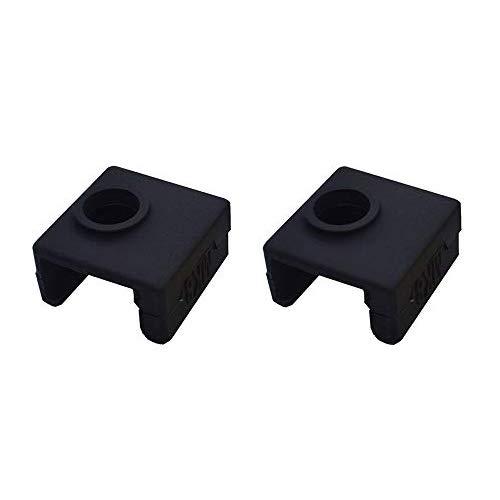 SOOWAY 3D Drucker Heizung Block Silikon Abdeckung MK7 / MK8 / MK9 Hotend Kompatibel mit Creality CR-10,10 S, S4, S5, Ender 3, ANET A8 (Schwarz)