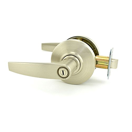 Schlage Commercial AL40JUP619 AL Series Grade 2 Cylindrical Lock, Privacy Function, Jupiter Lever Design, Satin Nickel Finish