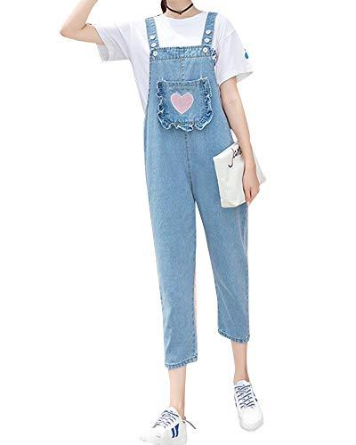 Peto Jeans Mujer Fashion con Bolsillos Baggy Vintage Vaqueros Mode De Marca...